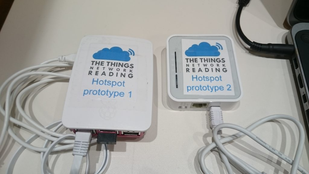Hotspot prototypes 1 and 2 (Pi and wifi router)