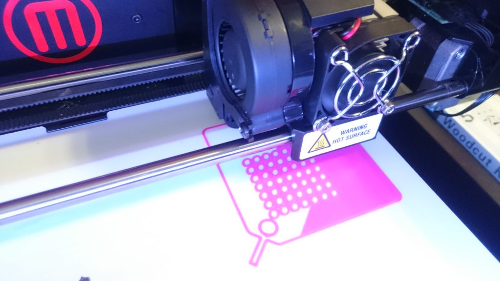 The front cover being printed